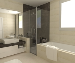 SA Hijo Contemporary Bathroom Aurum  Construcciones